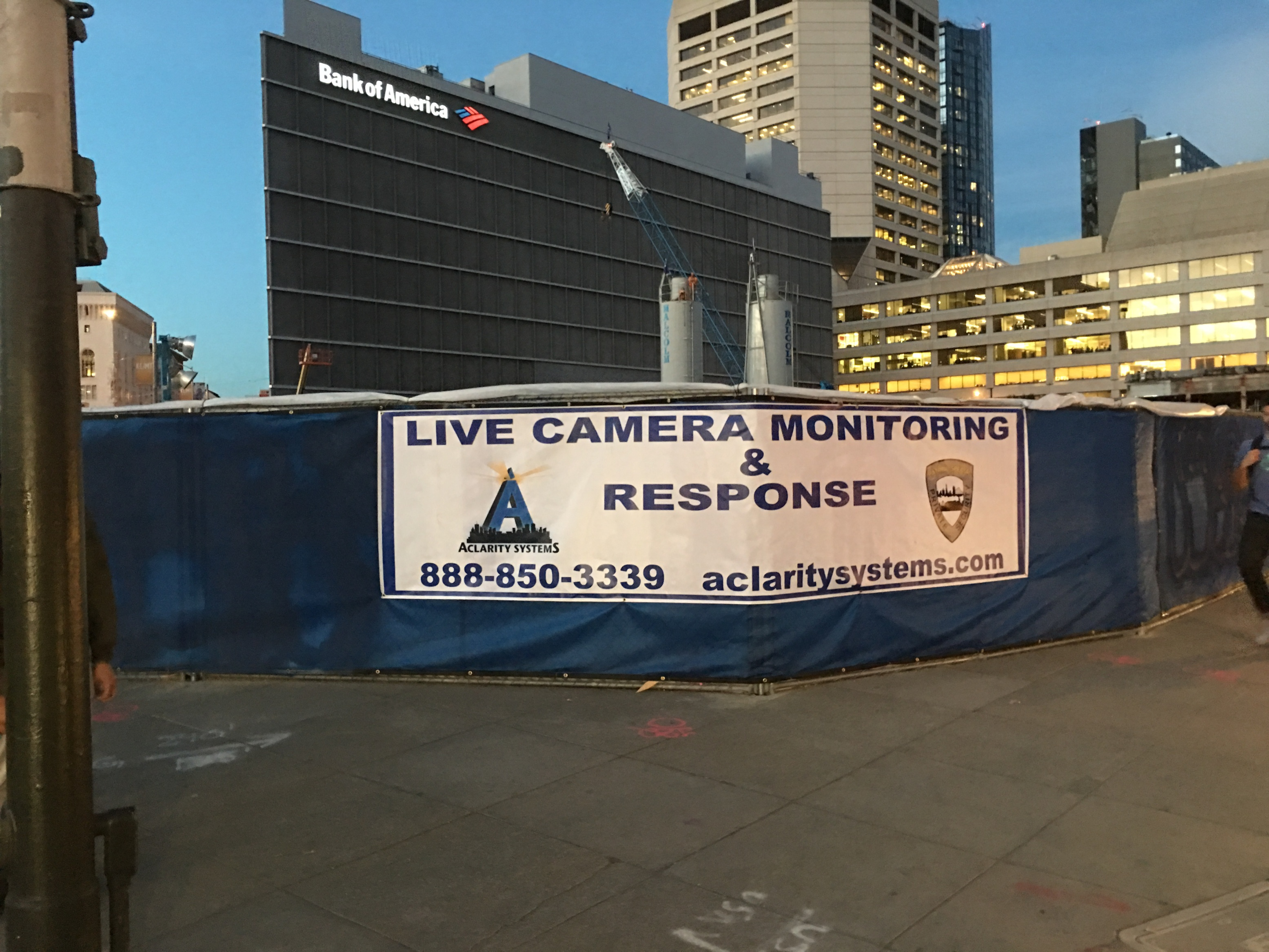 Live video monitoring banner